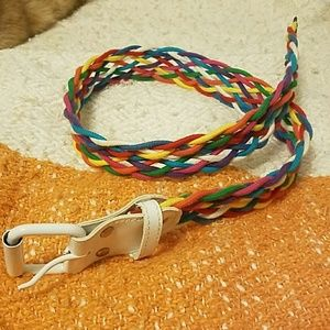 Multicolor Braided Belt